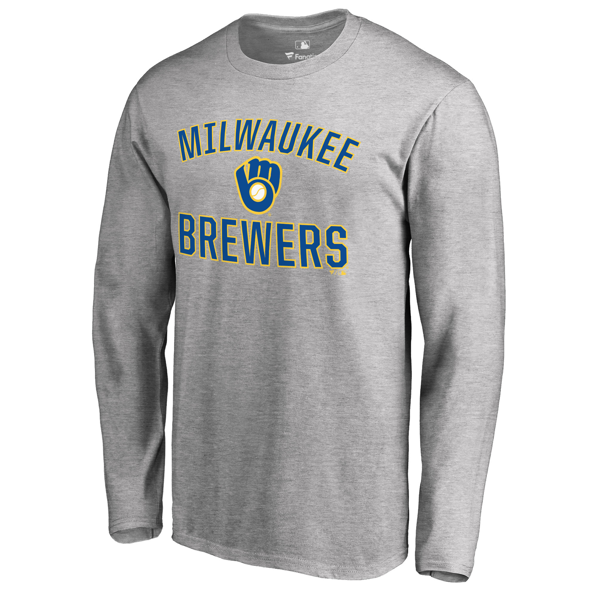 Milwaukee Brewers Victory Arch Long Sleeve T-Shirt - Ash