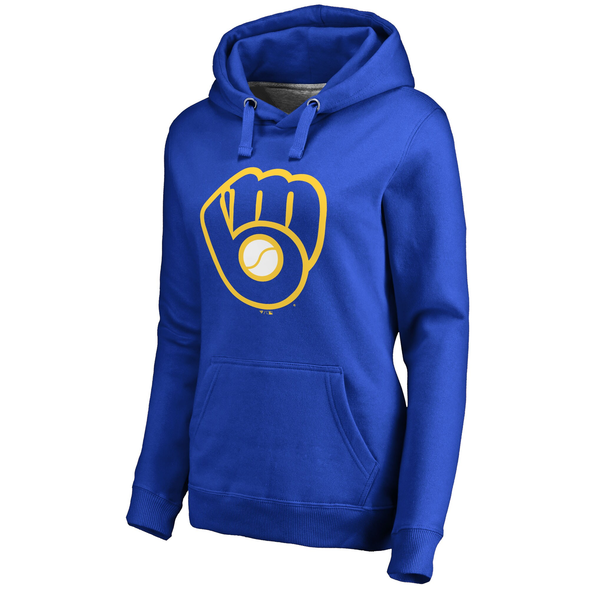 Milwaukee Brewers Women's Secondary Color Primary Logo Pullover Hoodie - Royal