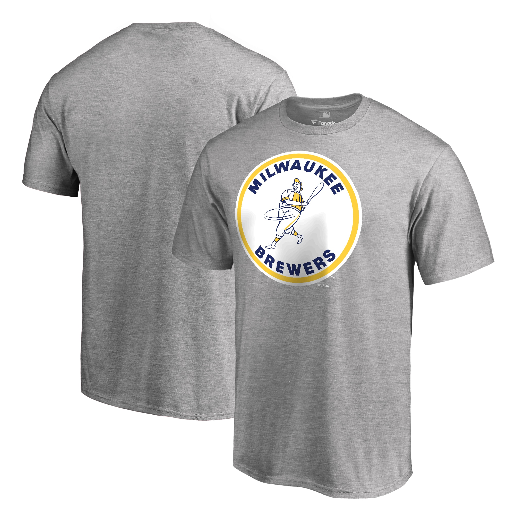 Milwaukee Brewers Fanatics Branded Cooperstown Collection Forbes T-Shirt - Ash