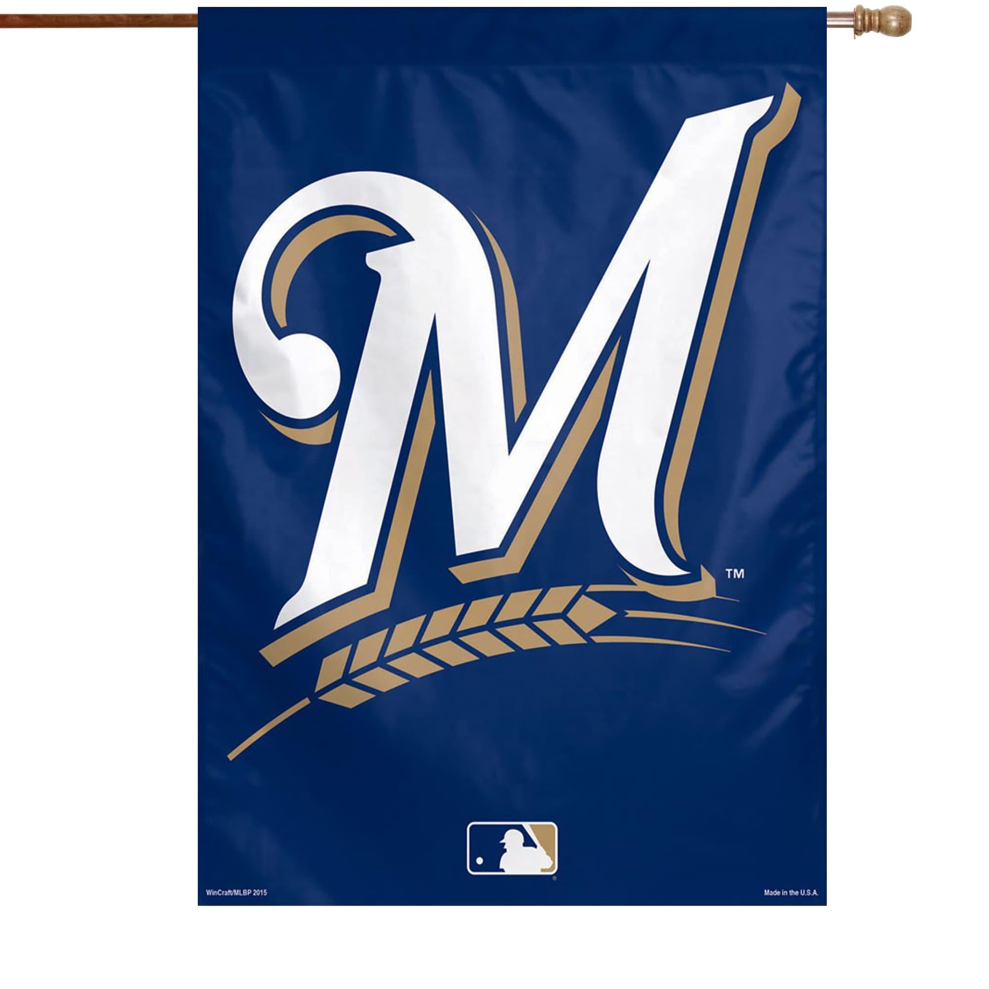"Milwaukee Brewers WinCraft 28"" x 40"" Big Logo Single-Sided Vertical Banner"