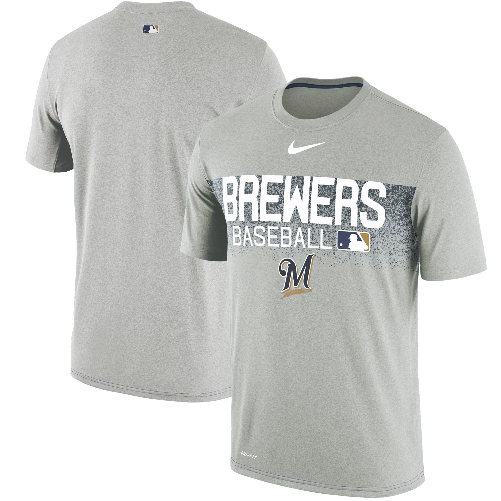 Milwaukee Brewers Nike Authentic Collection Legend Team Issued Performance T-Shirt - Gray