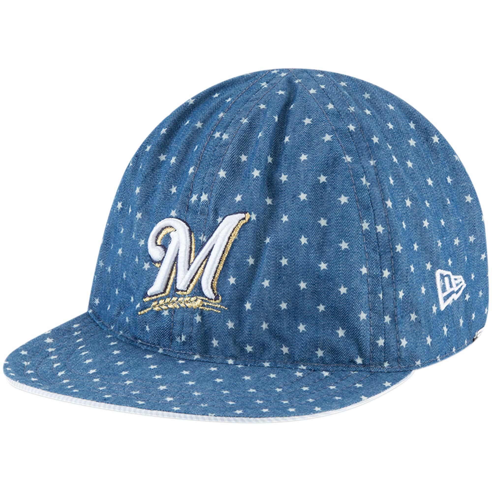 Milwaukee Brewers New Era Toddler Flip 9TWENTY Adjustable Hat - Denim