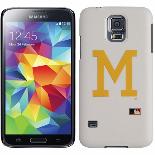 Milwaukee Brewers Galaxy S5 Primary Logo Thinshield Case - White