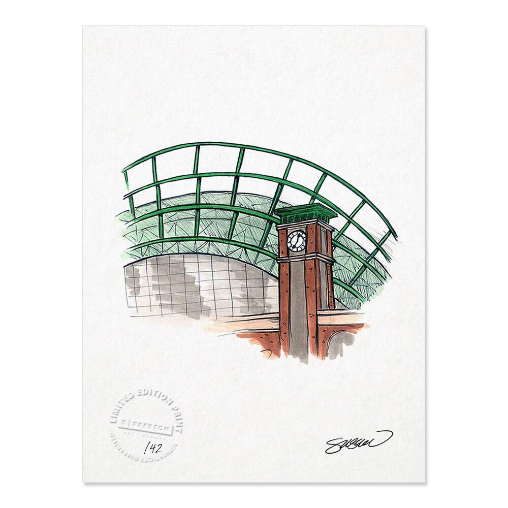 "Milwaukee Brewers 8.5"" x 11"" Sketch Art Print"