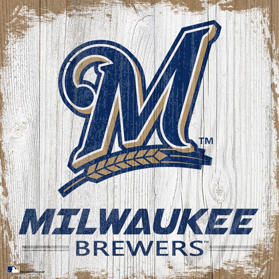 Milwaukee Brewers 6'' x 6'' Team Logo Block