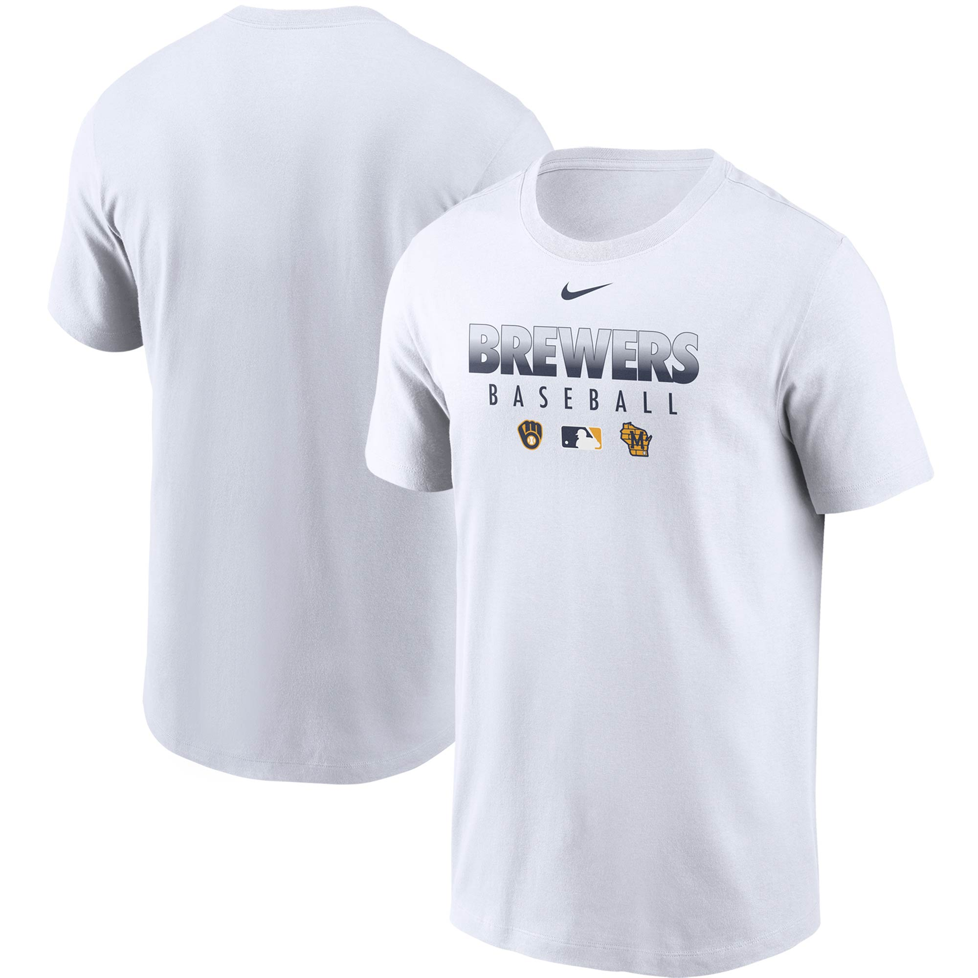 Milwaukee Brewers Nike Authentic Collection Performance T-Shirt - White