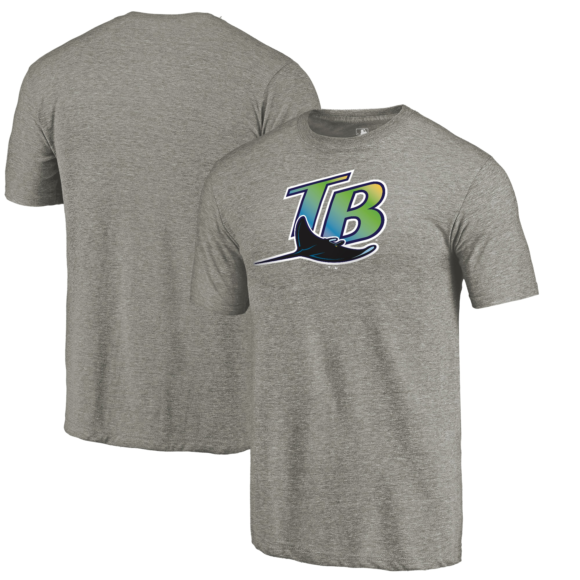 Tampa Bay Rays Fanatics Branded Cooperstown Collection Forbes Tri-Blend T-Shirt - Ash