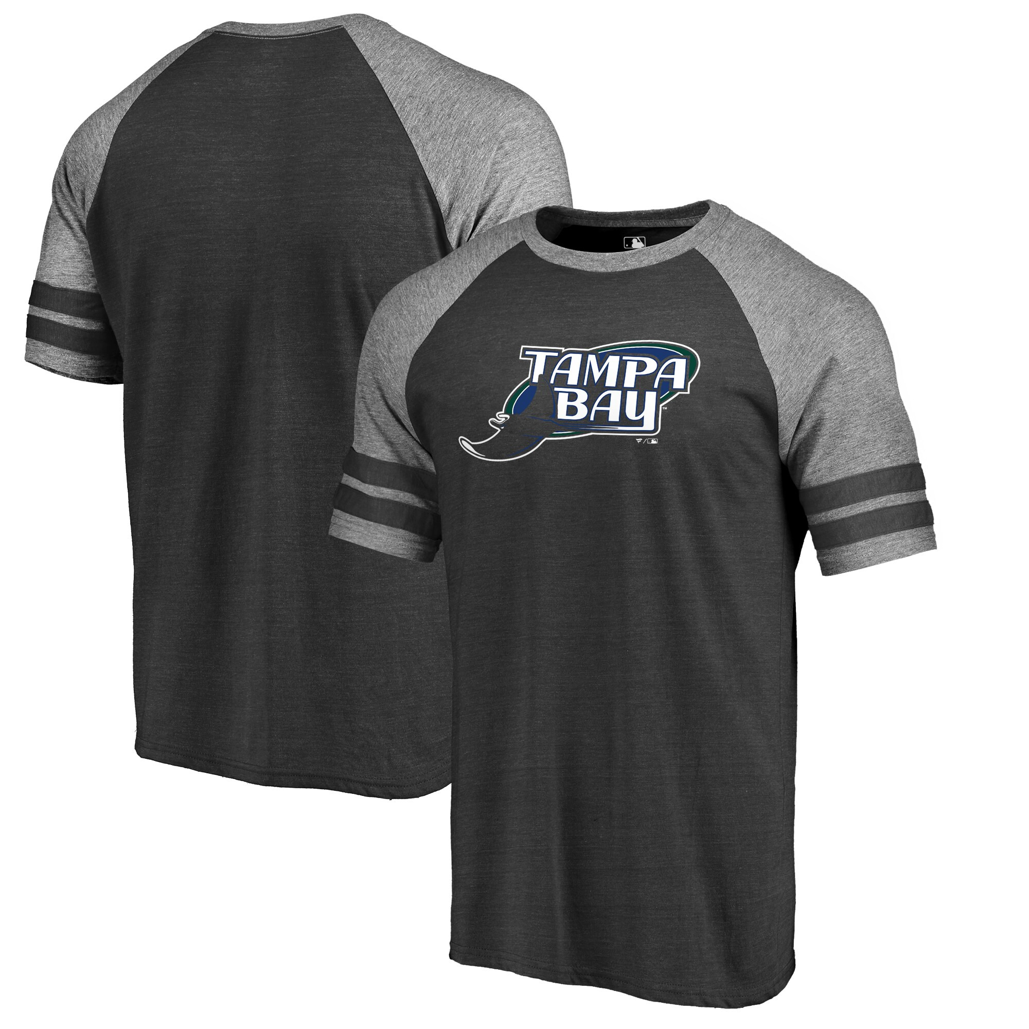 Tampa Bay Rays Fanatics Branded Huntington Cooperstown Collection Tri-Blend T-Shirt - Black