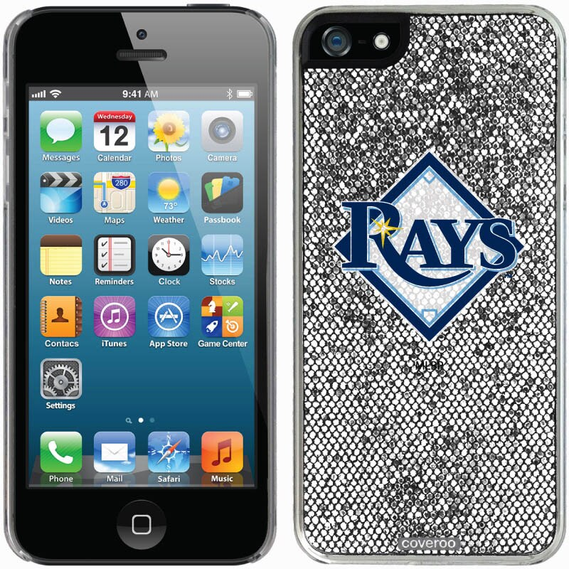 Tampa Bay Rays iPhone 5/5s Bling Thinshield Snap-On Case - Silver