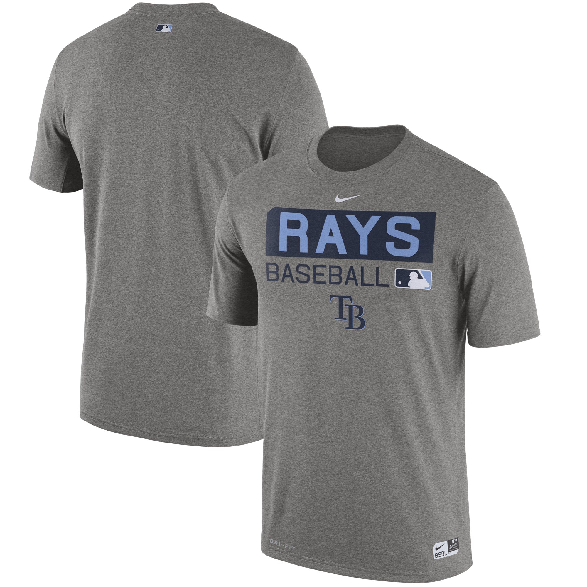 Tampa Bay Rays Nike Authentic Collection Legend Team Issue Performance T-Shirt - Heathered Gray