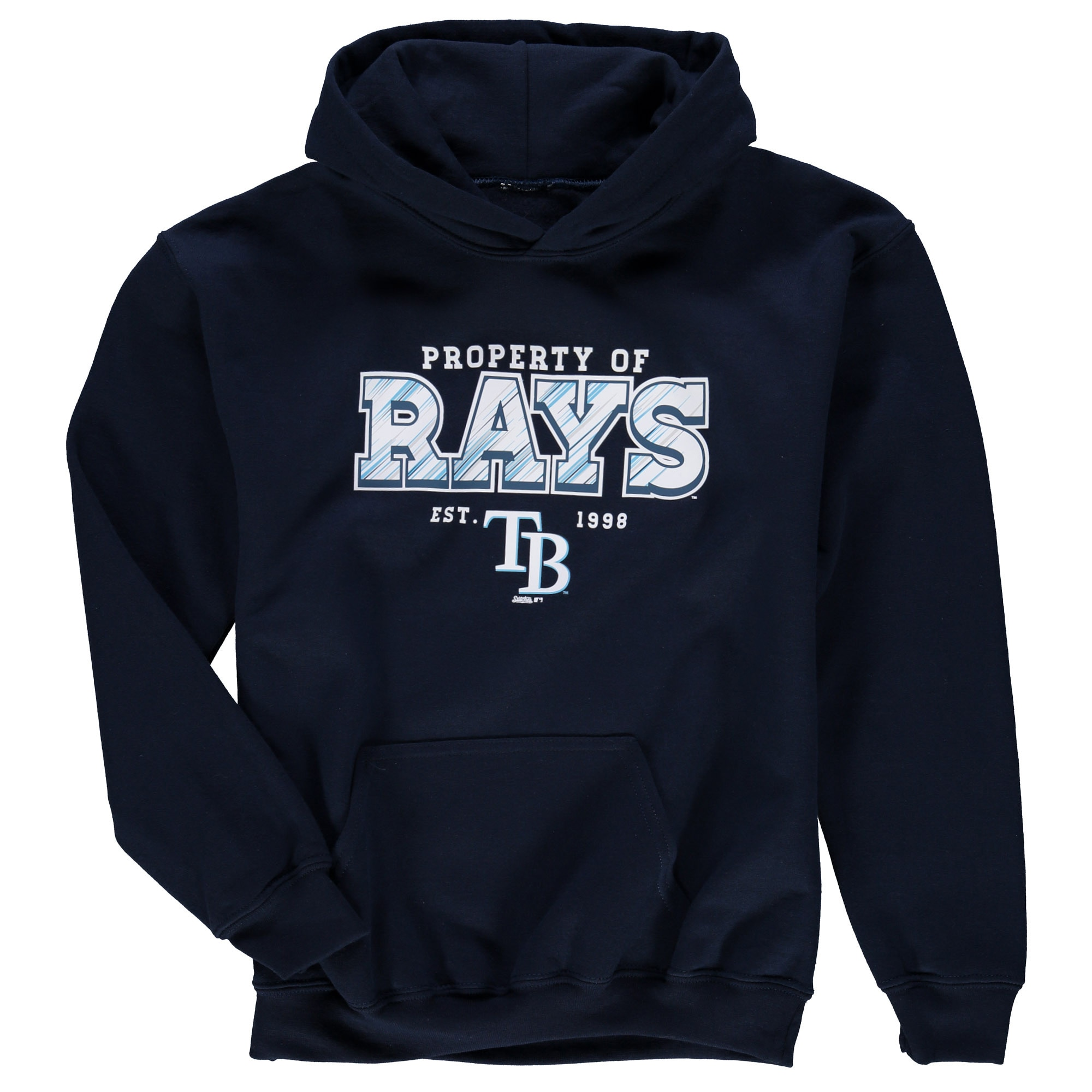 Tampa Bay Rays Stitches Youth Property Of Team Hoodie - Navy