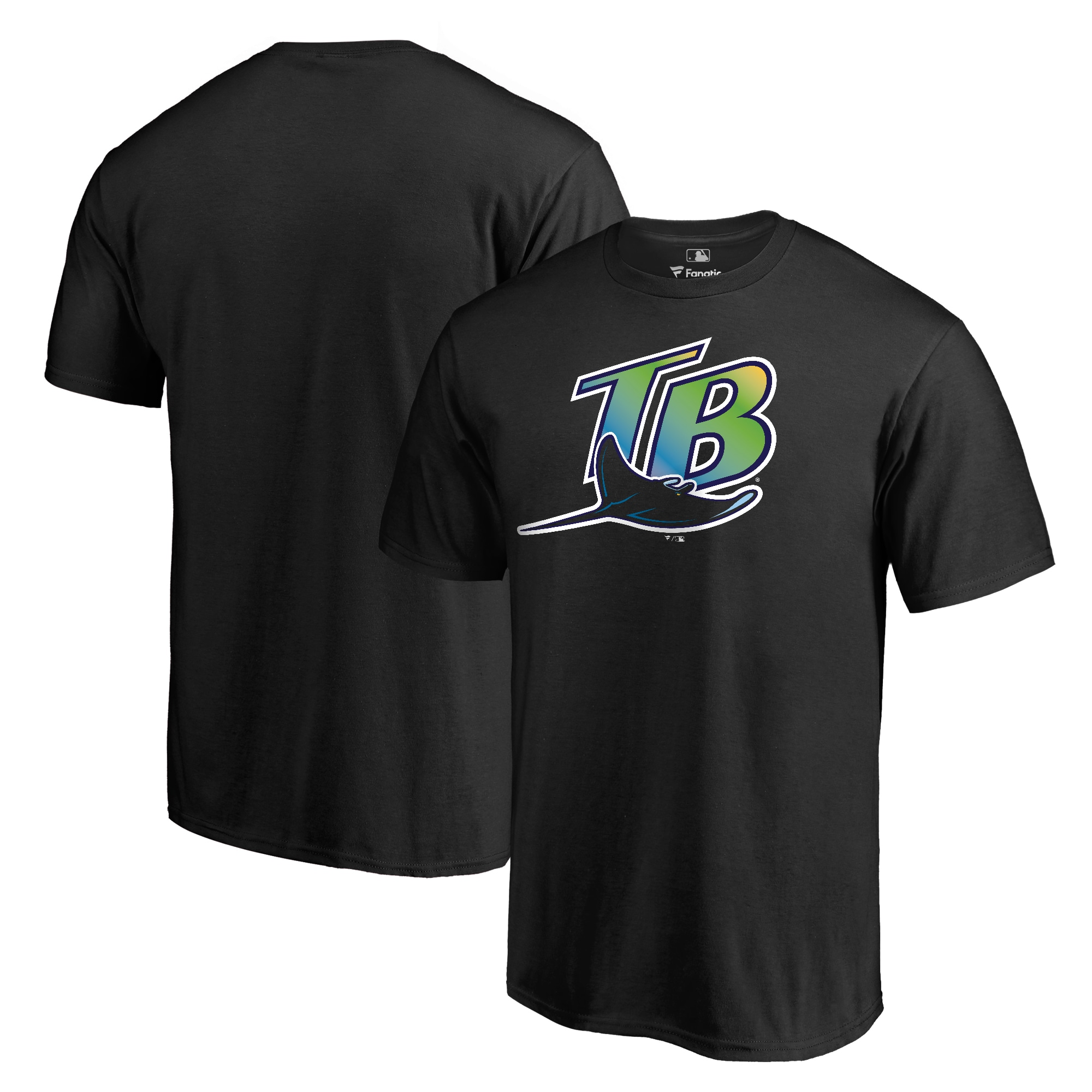 Tampa Bay Rays Fanatics Branded Cooperstown Collection Forbes T-Shirt - Black