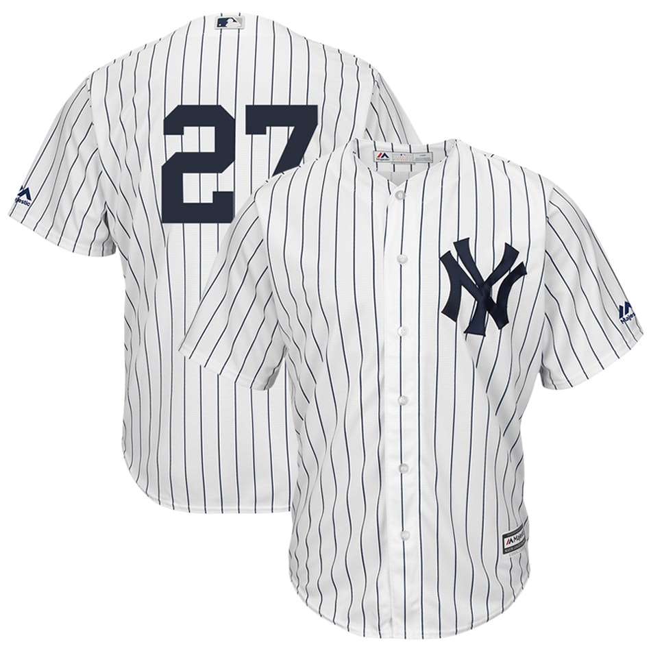 Giancarlo Stanton New York Yankees Majestic Cool Base Player Replica Jersey - White
