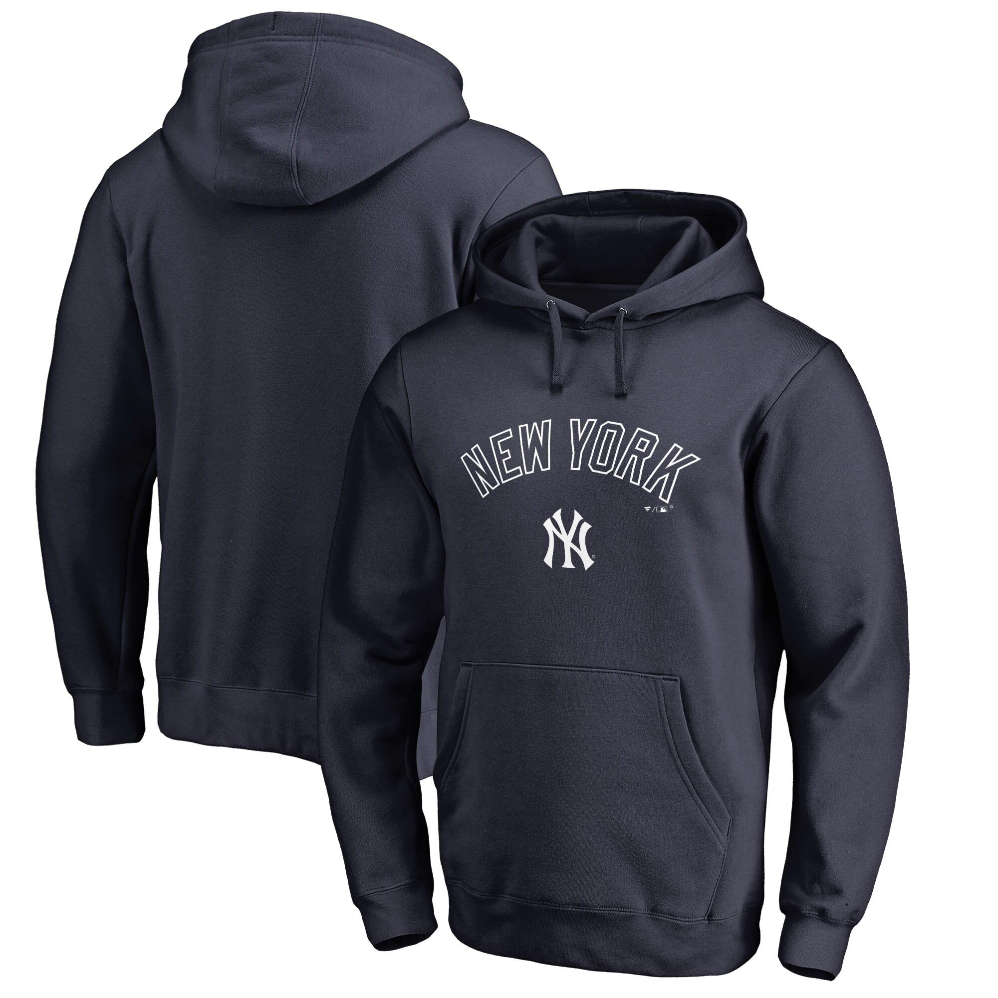 New York Yankees Fanatics Branded Team Lockup Pullover Hoodie - Navy