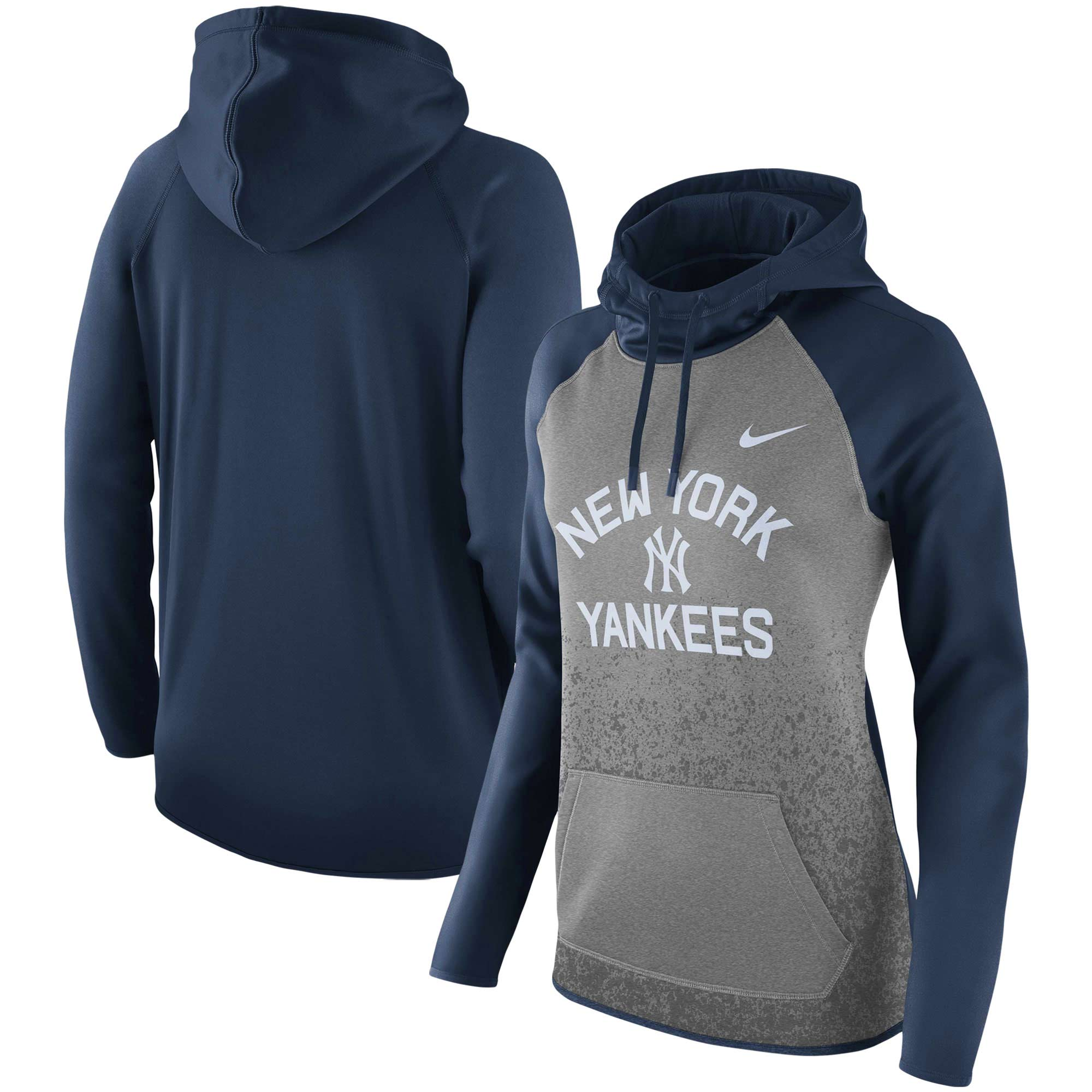 New York Yankees Nike Women's All-Time Therma Performance Pullover Hoodie - Dark Gray