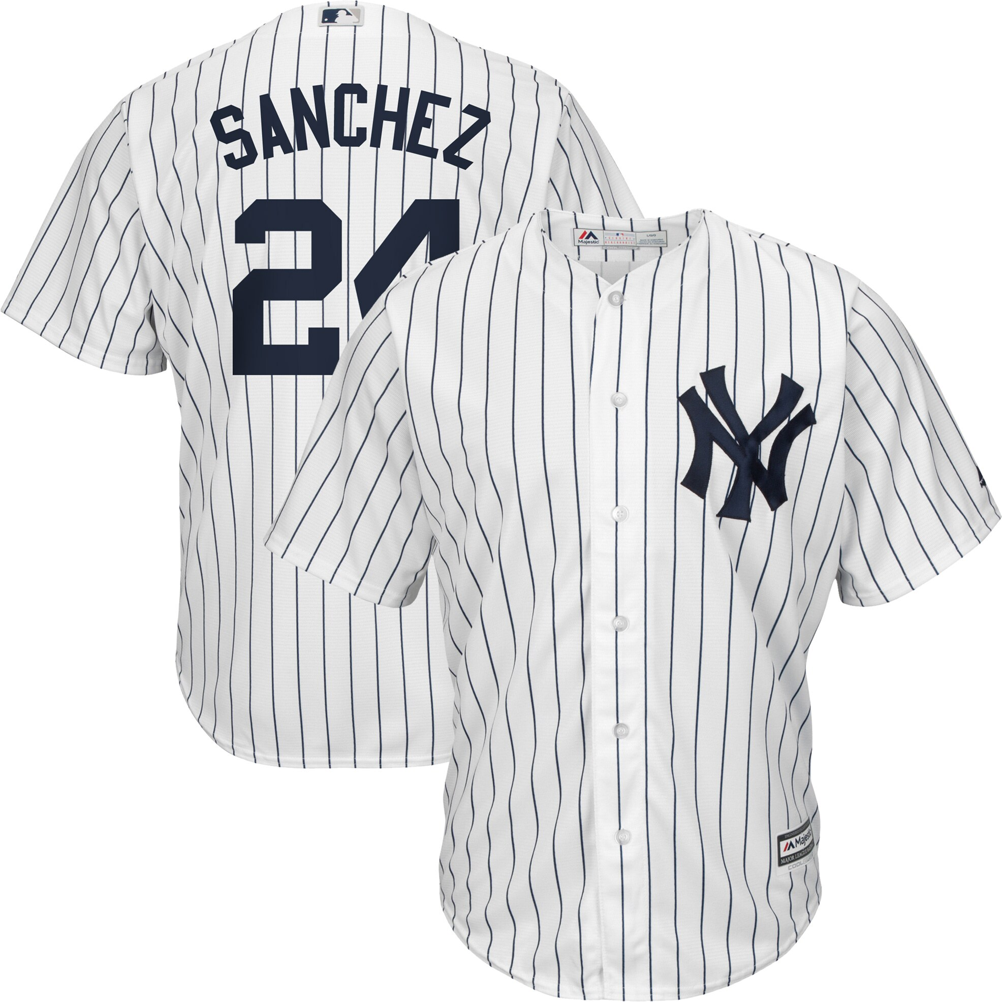 Gary Sanchez New York Yankees Majestic Big & Tall Home Cool Base Player Jersey - White/Navy