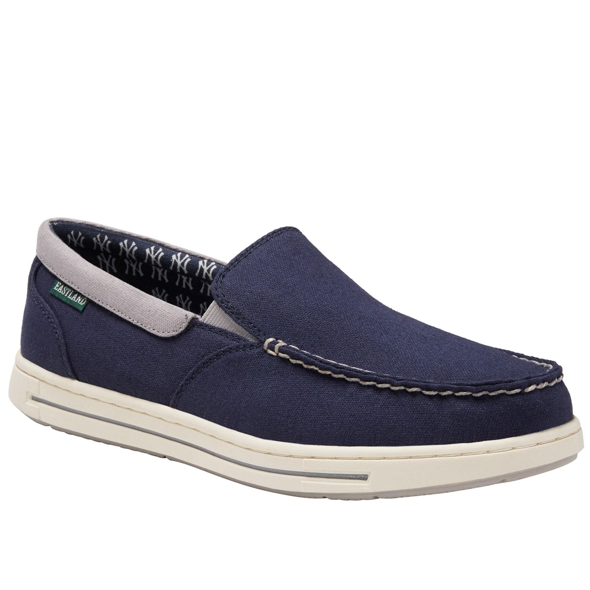 New York Yankees Eastland Slip-On Surf Shoes - Navy