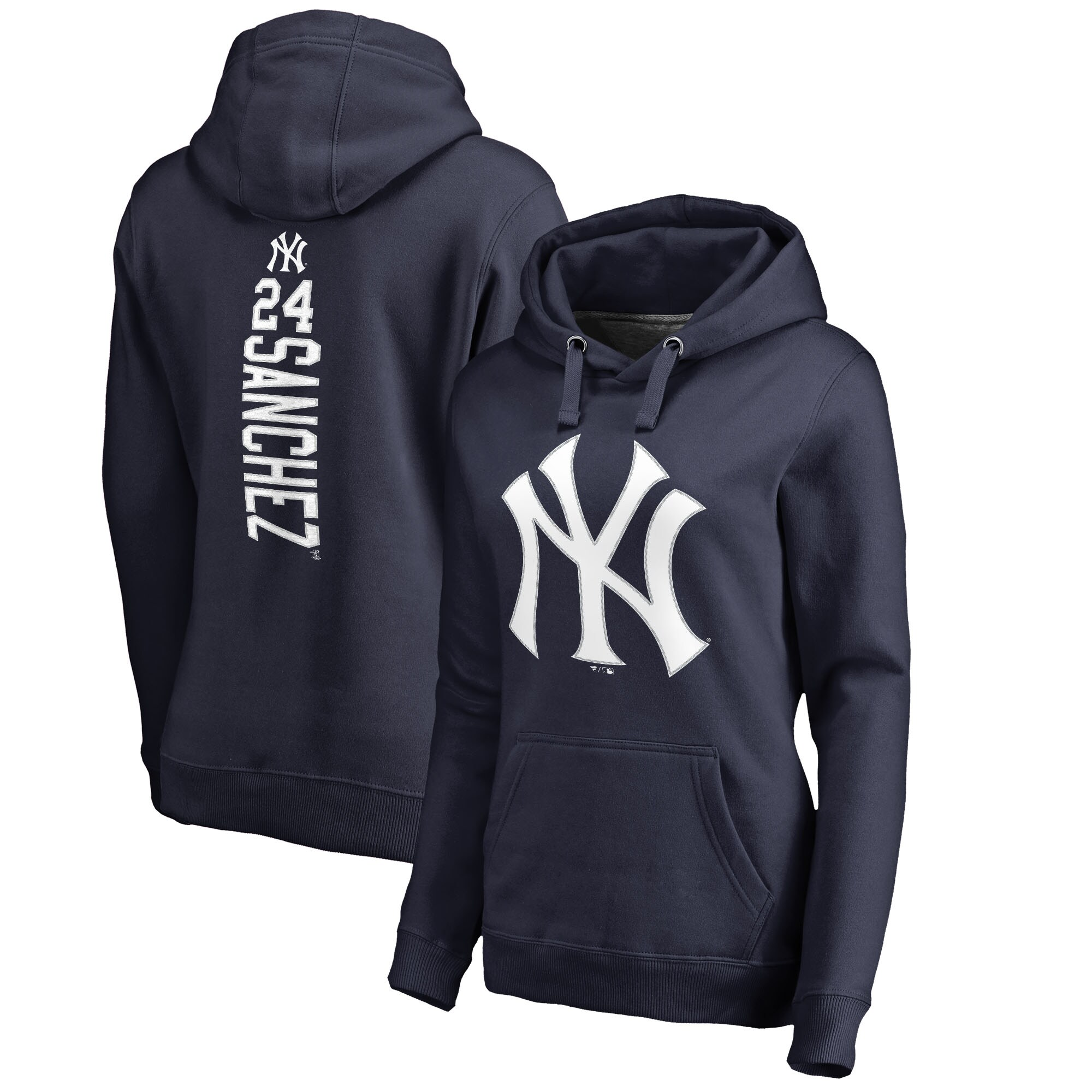 Gary Sanchez New York Yankees Fanatics Branded Women's Backer Pullover Hoodie - Navy