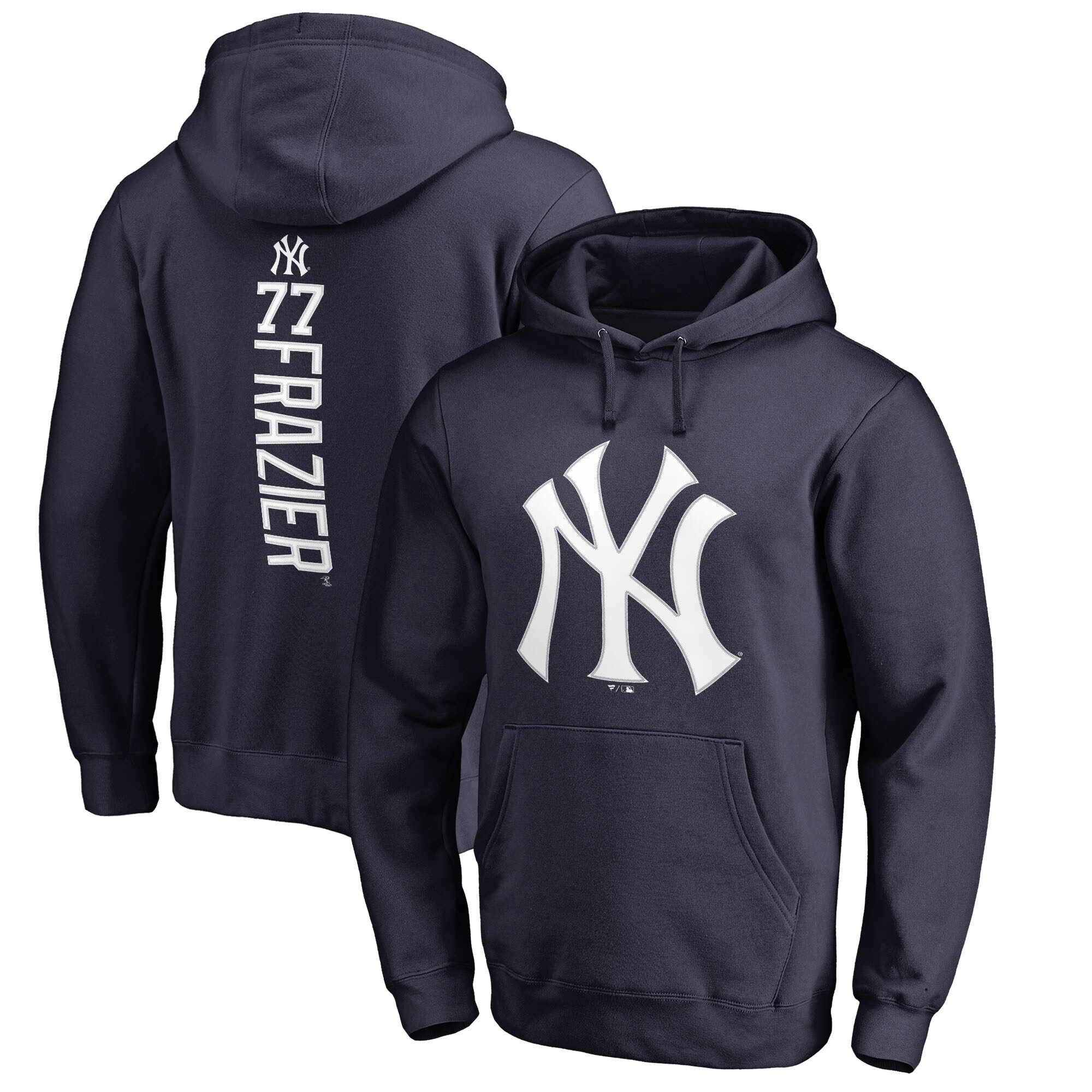 Clint Frazier New York Yankees Fanatics Branded Backer Pullover Hoodie - Navy