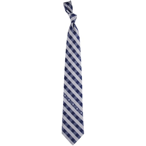 New York Yankees Woven Checkered Tie