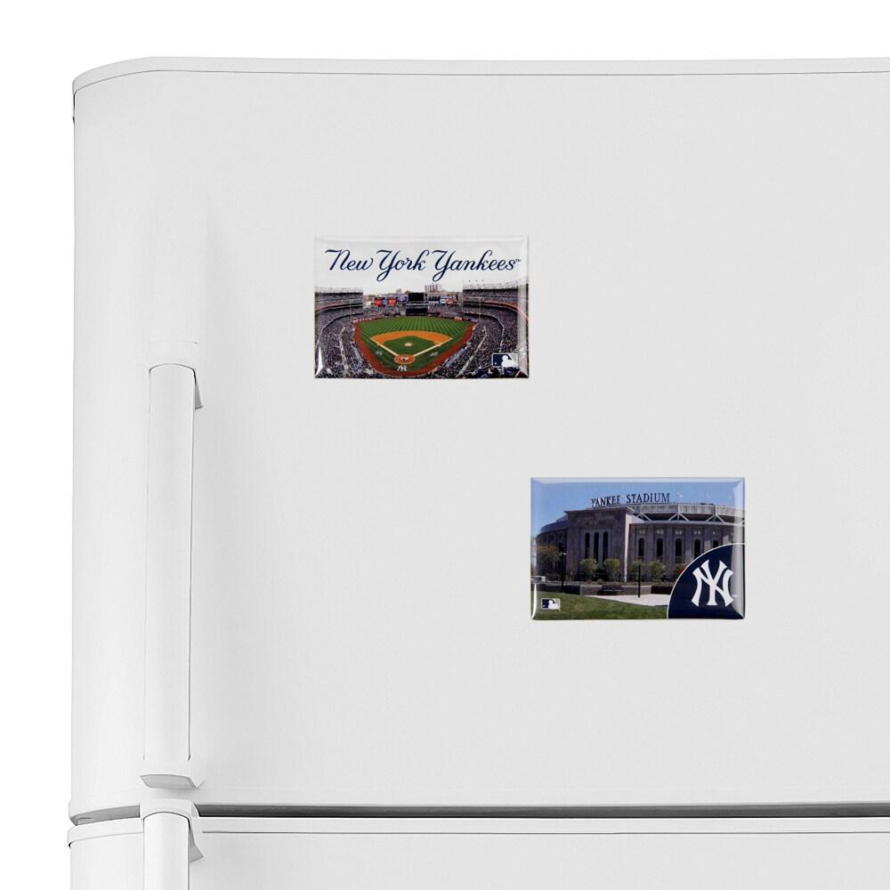 "New York Yankees WinCraft 2"" x 3"" 2-Pack Magnet Set-"