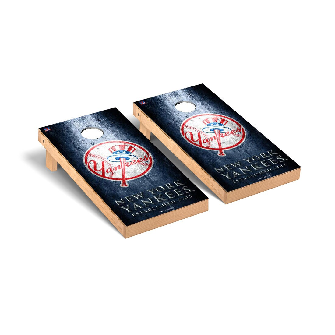 New York Yankees 2' x 4' Metal Cornhole Board Tailgate Toss Set