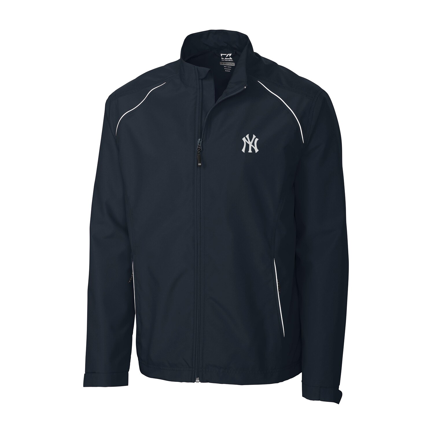New York Yankees Cutter & Buck Beacon WeatherTec Full-Zip Jacket - Navy