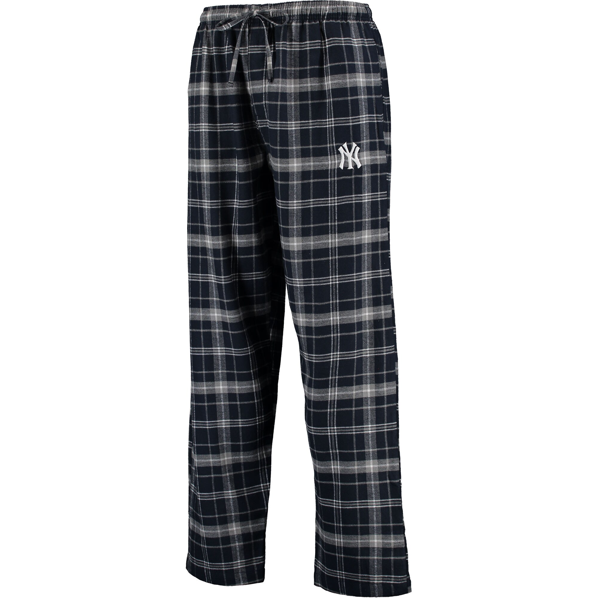 New York Yankees Concepts Sport Team Ultimate Plaid Flannel Pants - Navy/Gray