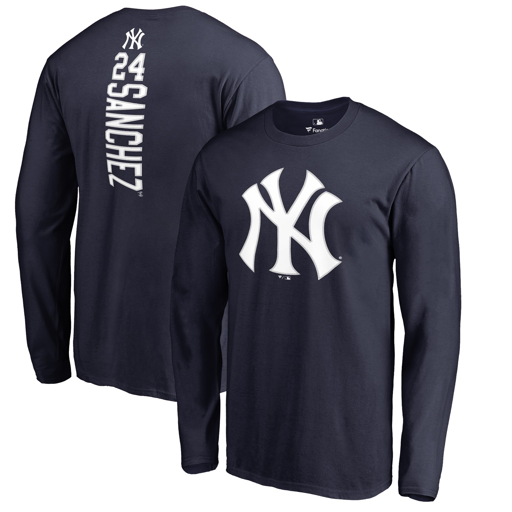 Gary Sanchez New York Yankees Backer Long Sleeve T-Shirt - Navy