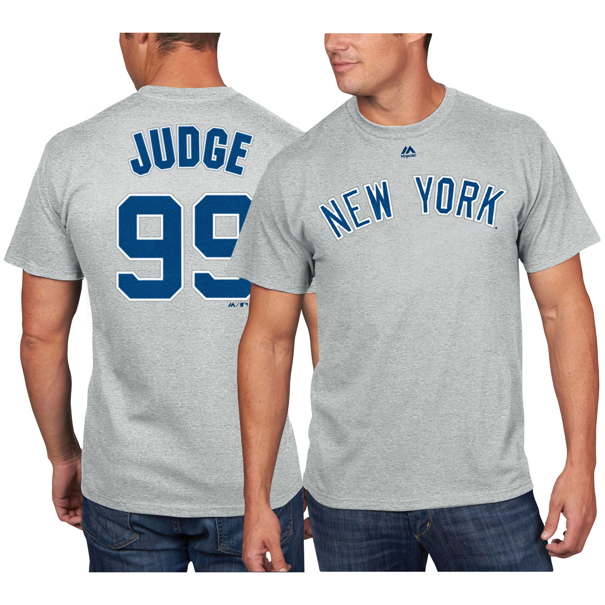Aaron Judge New York Yankees Majestic Name & Number T-Shirt - Gray