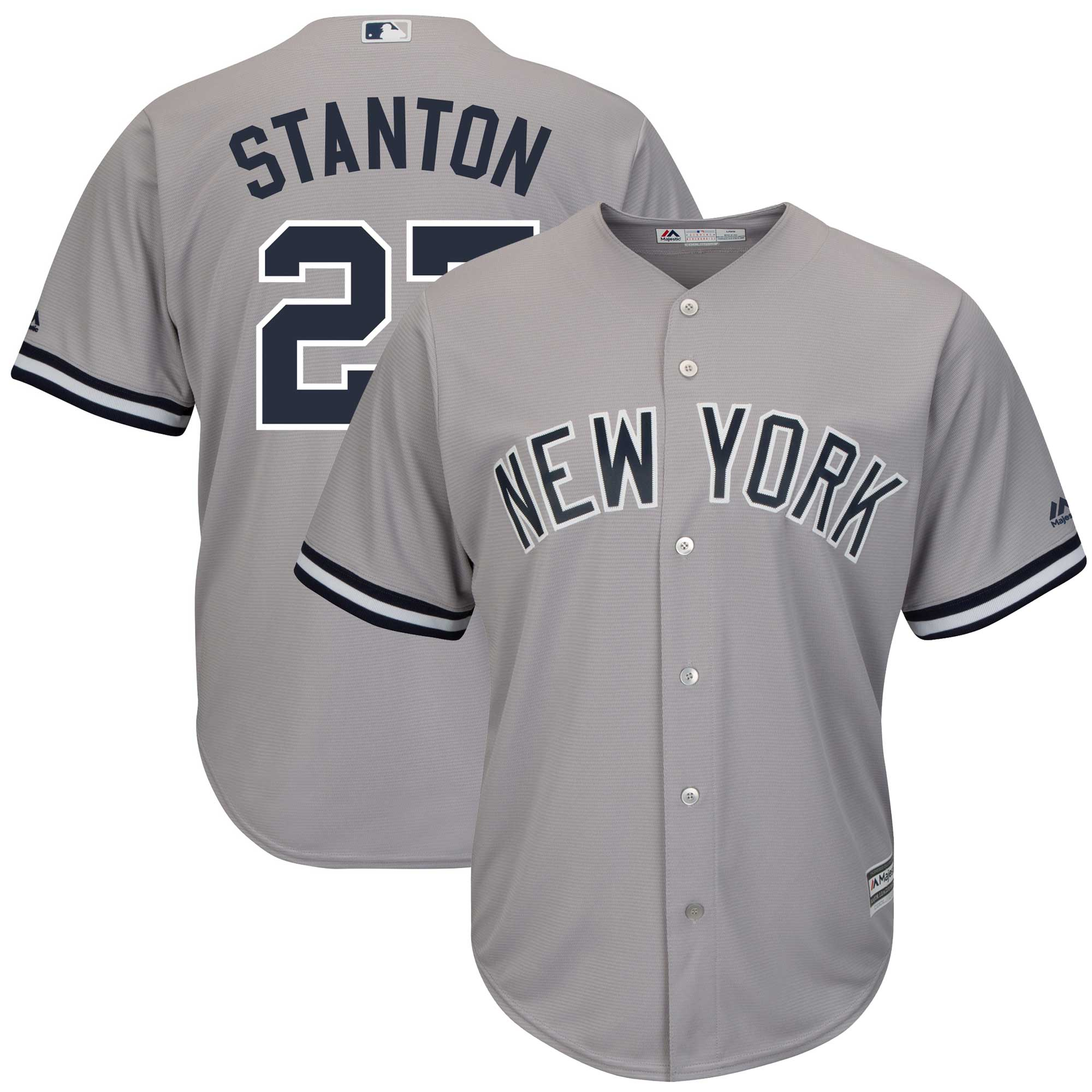 Giancarlo Stanton New York Yankees Majestic Big & Tall Alternate Cool Base Replica Player Jersey - Gray