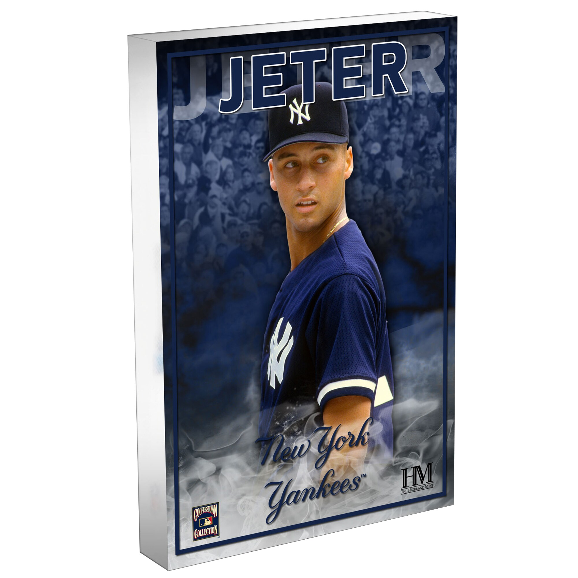 Derek Jeter New York Yankees Highland Mint 3D Acrylic Blockart