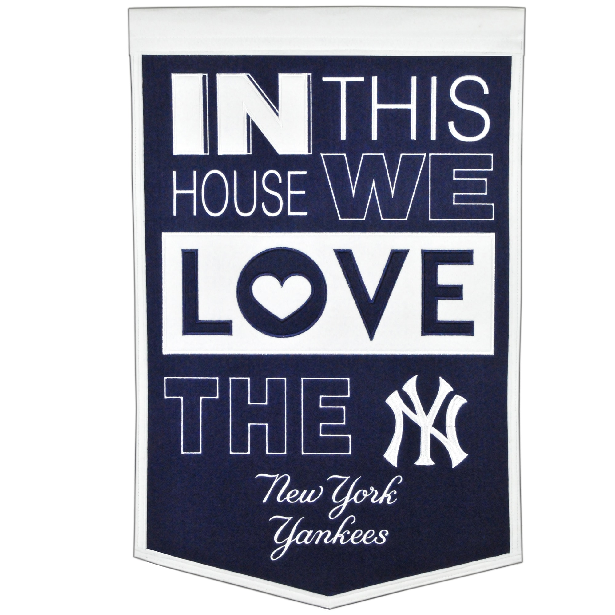 New York Yankees 15'' x 24'' Home Banner - Navy/White