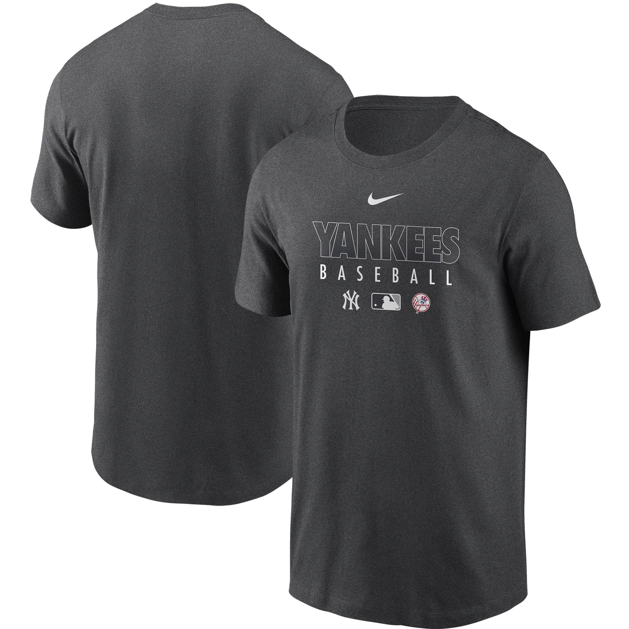 New York Yankees Nike Authentic Collection Team Performance T-Shirt - Gray