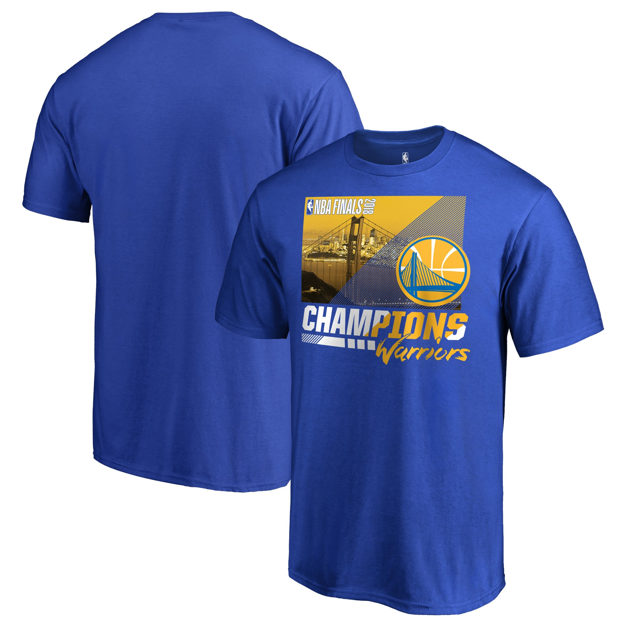 Golden State Warriors Fanatics Branded 2018 NBA Finals Champions Notorious Hometown City T-Shirt - Royal