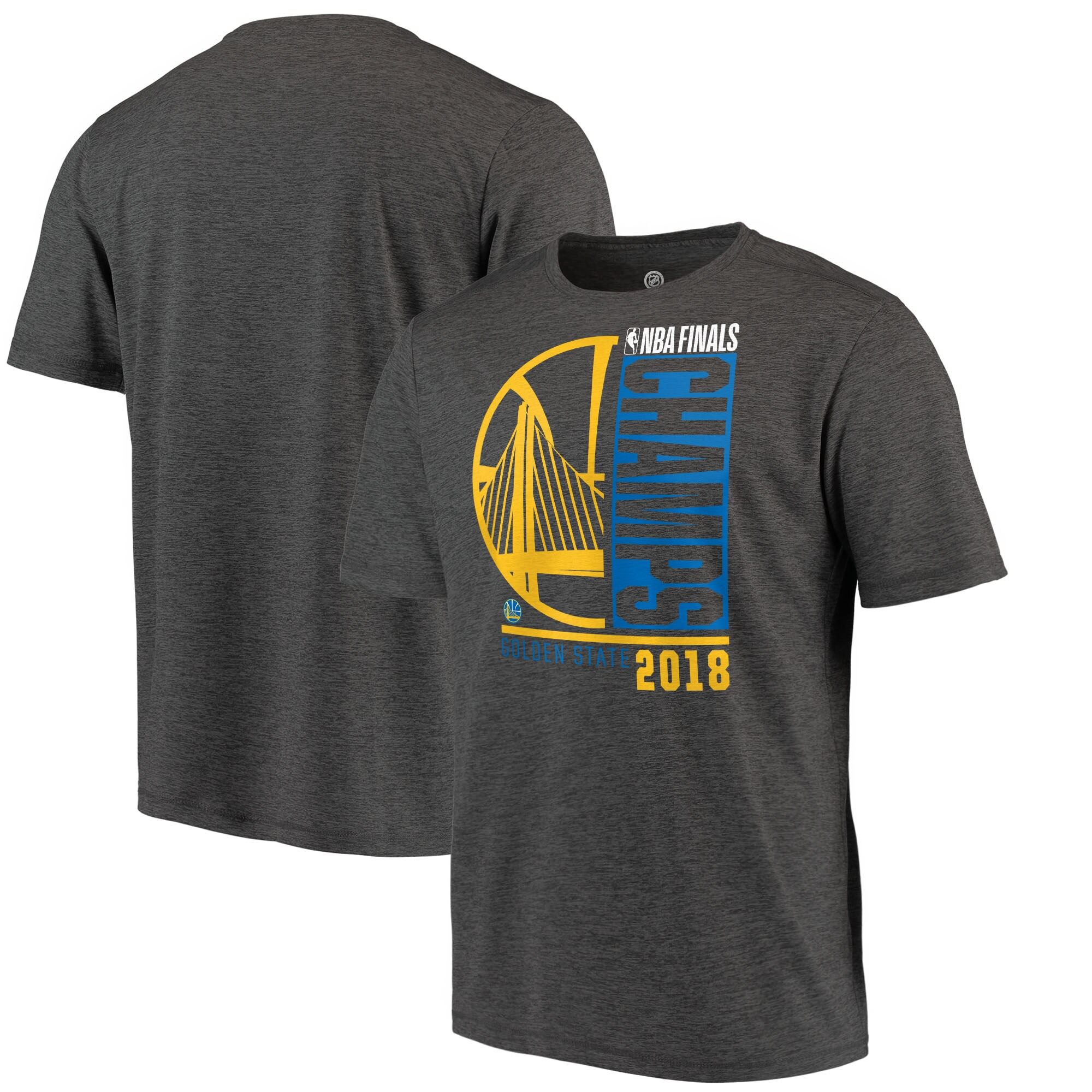 Golden State Warriors Fanatics Branded 2018 NBA Finals Champions Performance T-Shirt - Heather Charcoal