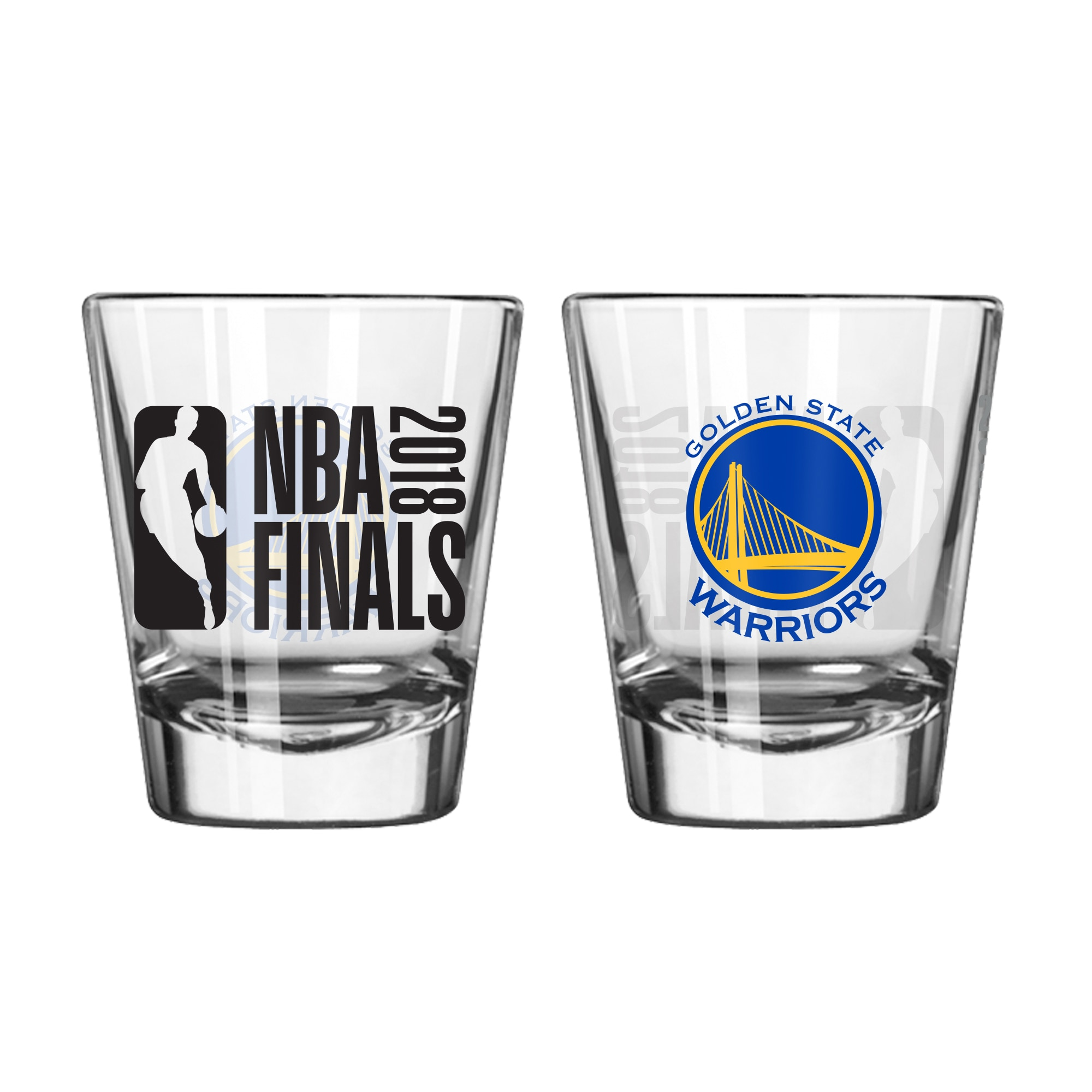 Golden State Warriors 2018 NBA Finals Bound 2oz. Shot Glass