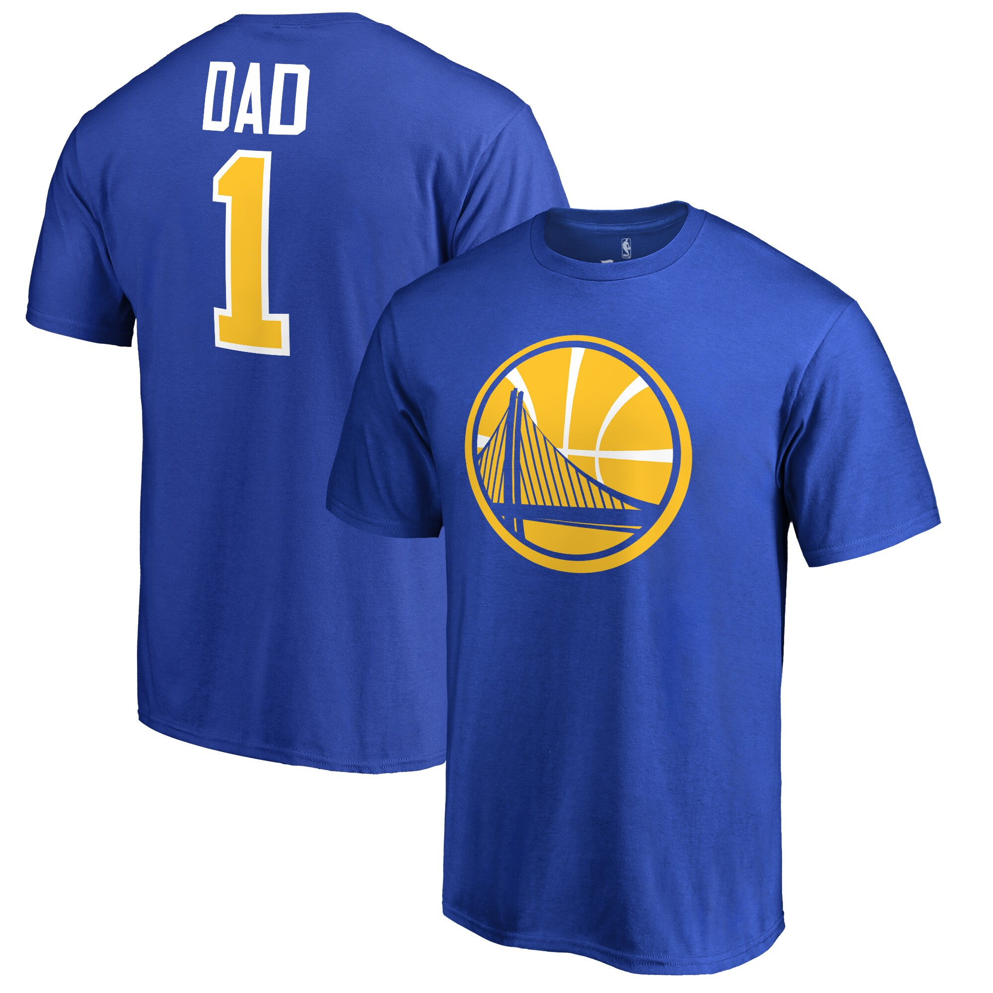 Golden State Warriors Fanatics Branded Big & Tall #1 Dad T-Shirt - Blue