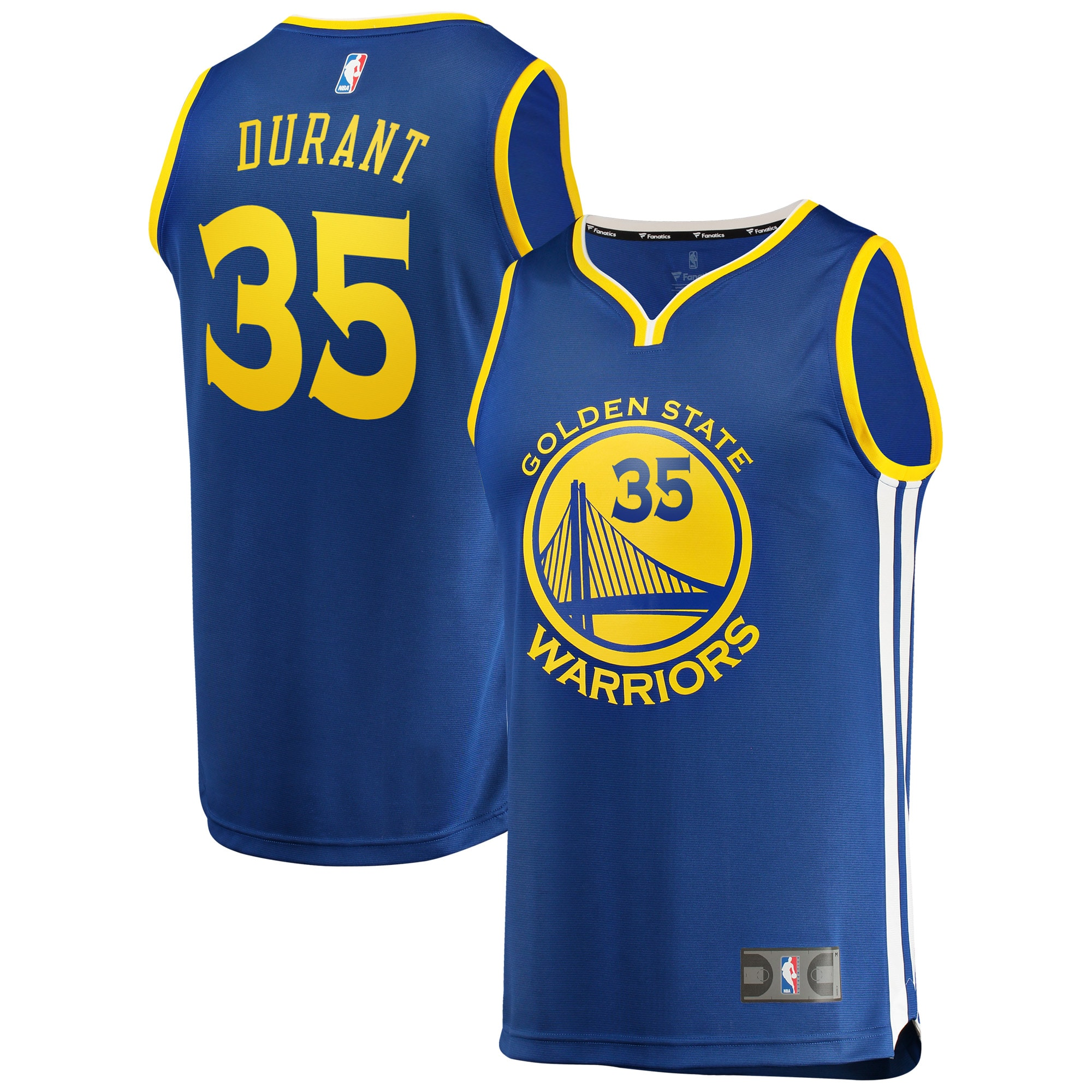 Kevin Durant Golden State Warriors Fanatics Branded Fast Break Replica Jersey Royal - Icon Edition