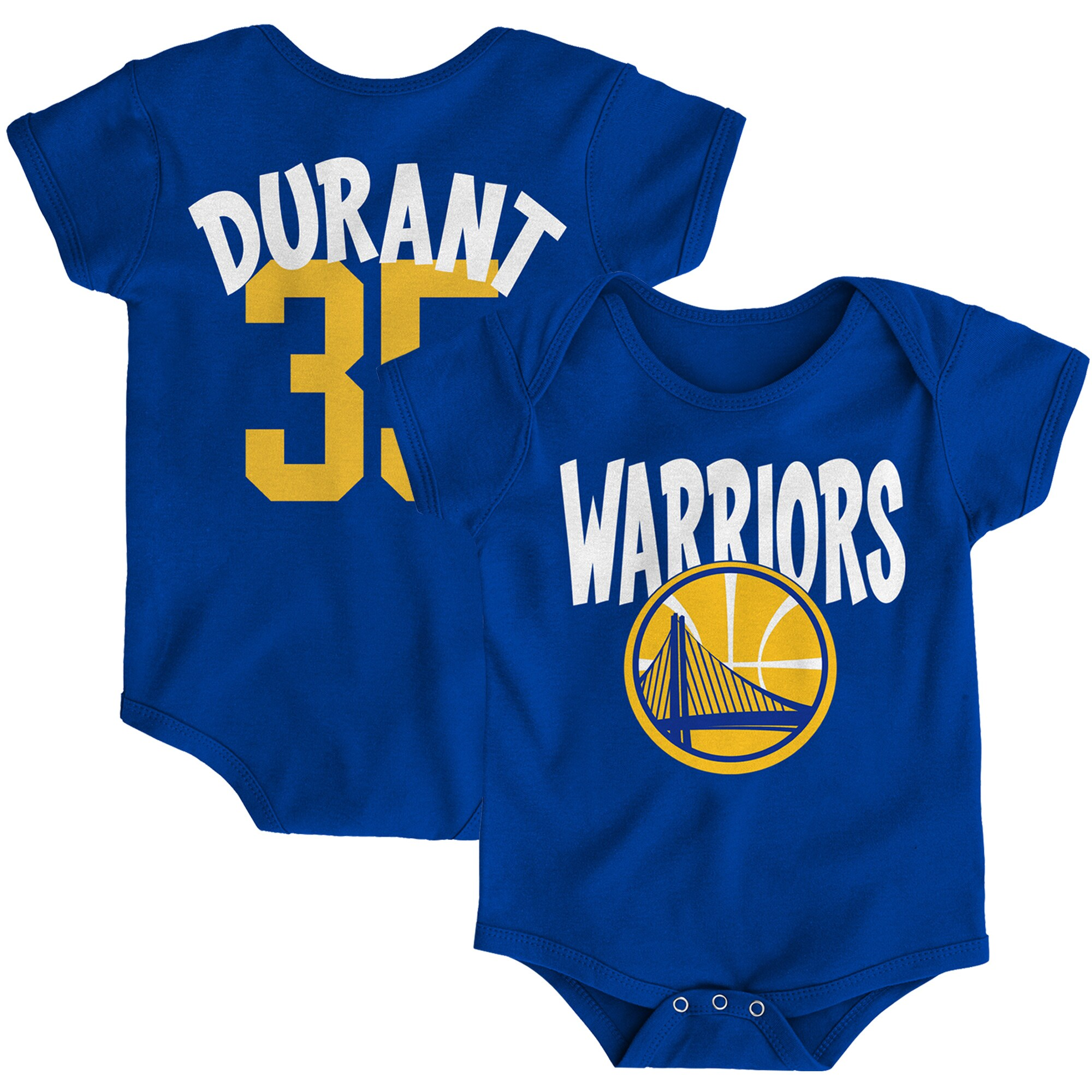 Kevin Durant Golden State Warriors Infant Name & Number Creeper - Royal