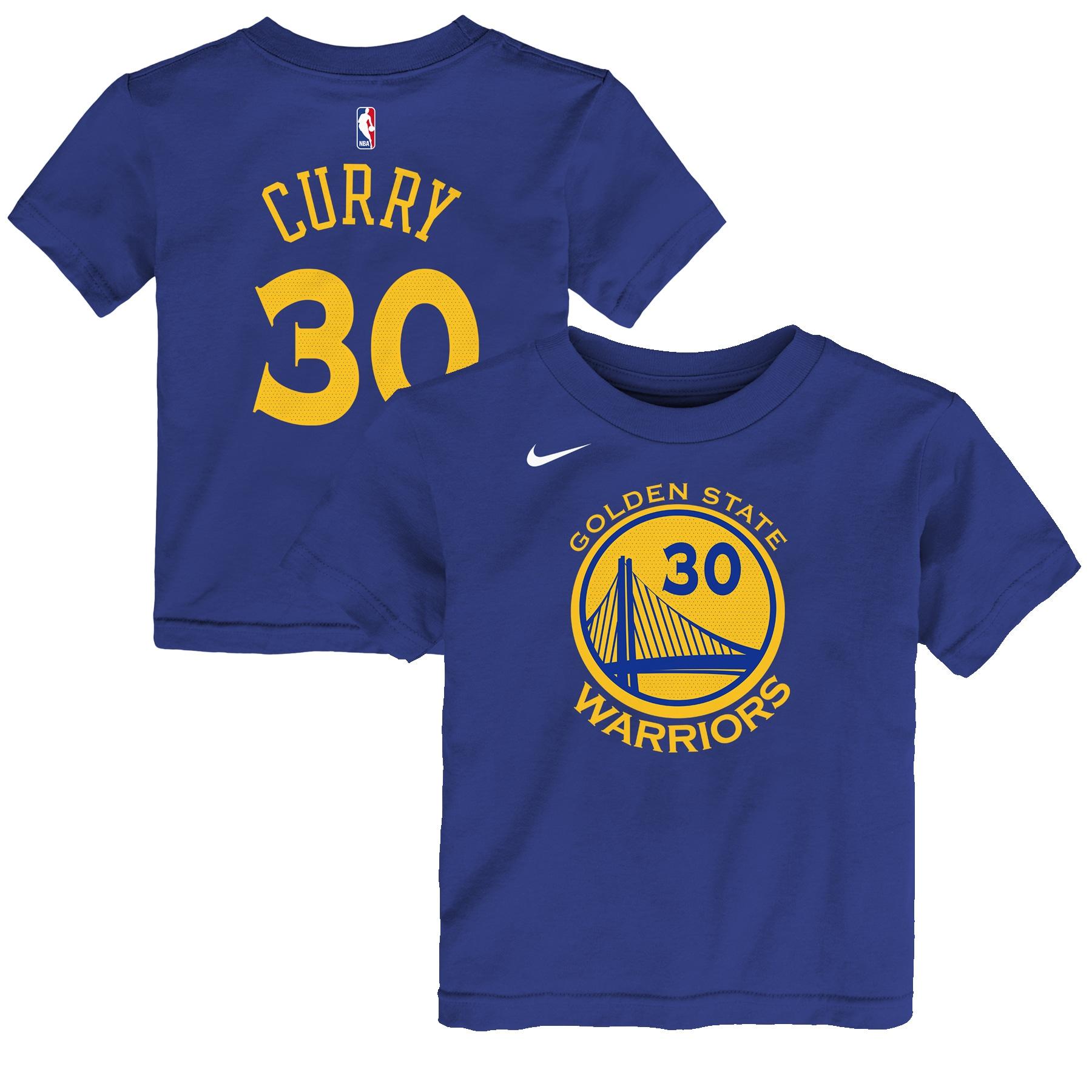 Stephen Curry Golden State Warriors Nike Preschool Name & Number T-Shirt - Blue