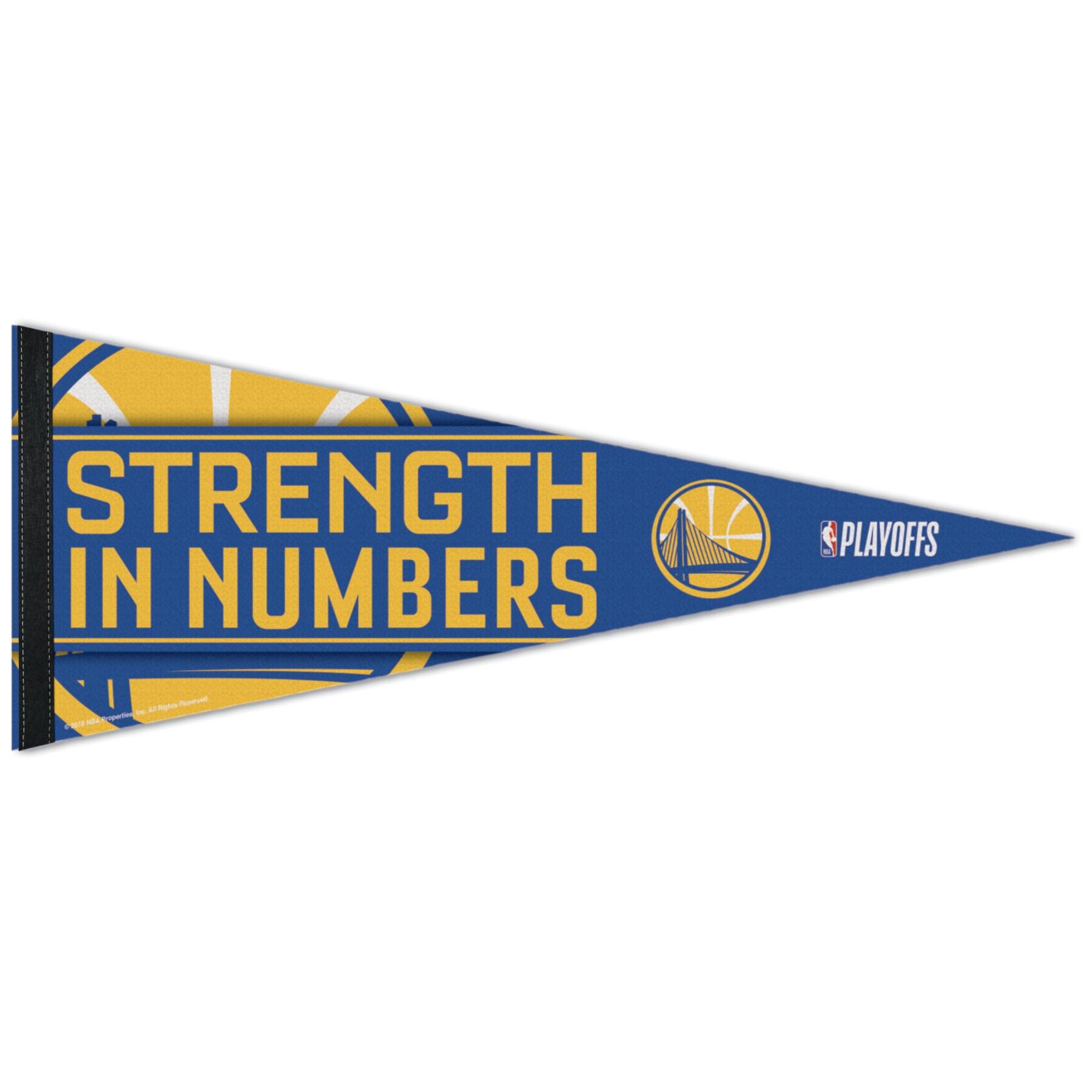"""Golden State Warriors WinCraft 2018 NBA Playoffs Slogan 12"""" x 30"""" Premium Pennant"""