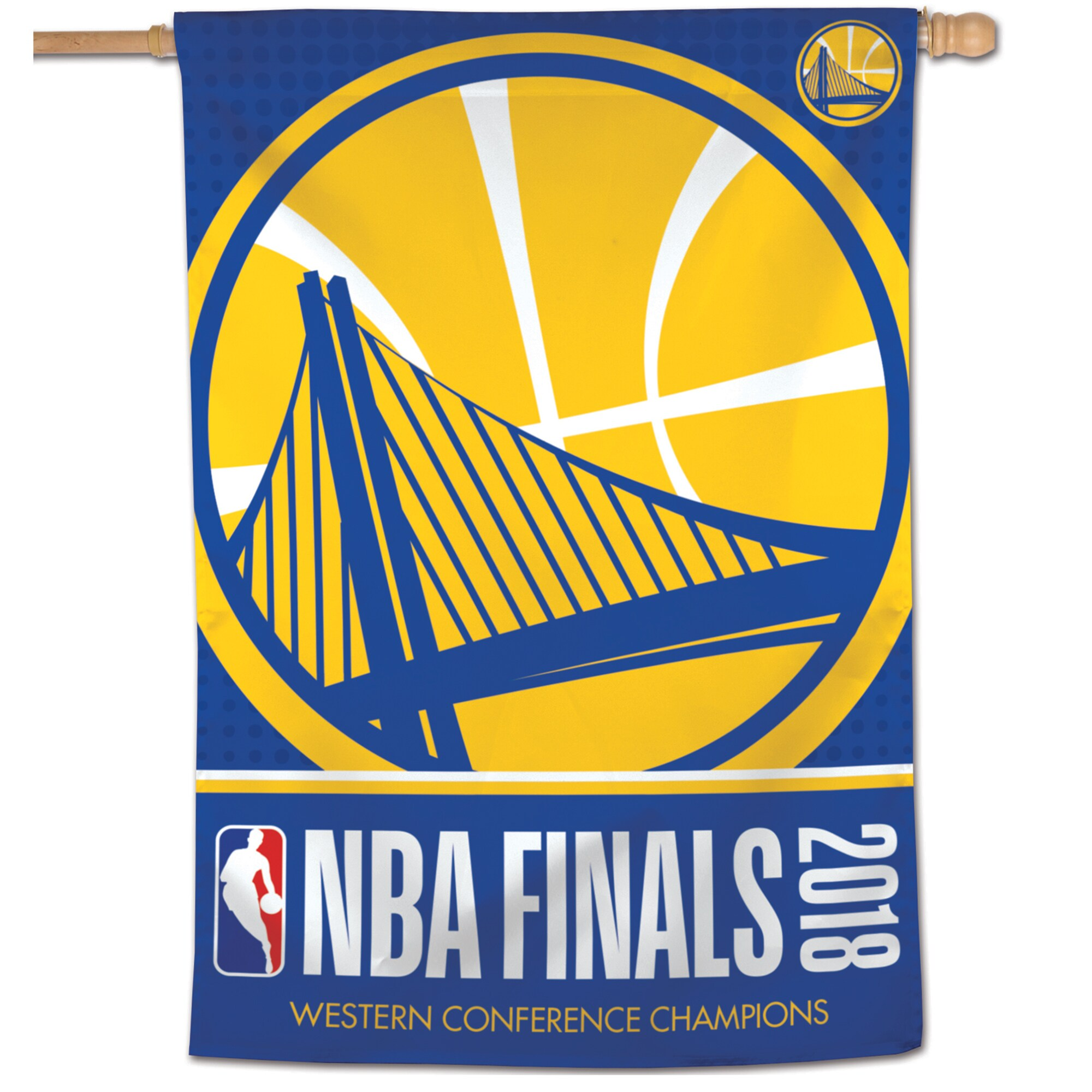 """Golden State Warriors WinCraft 2018 Western Conference Champions 28"""" x 40"""" 1-Sided Banner"""