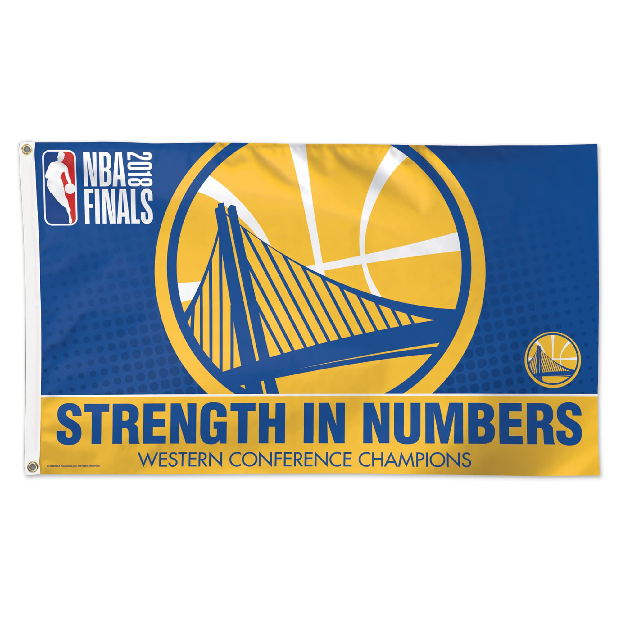 Golden State Warriors WinCraft 2018 Western Conference Champions 3' x 5' 1-Sided Flag