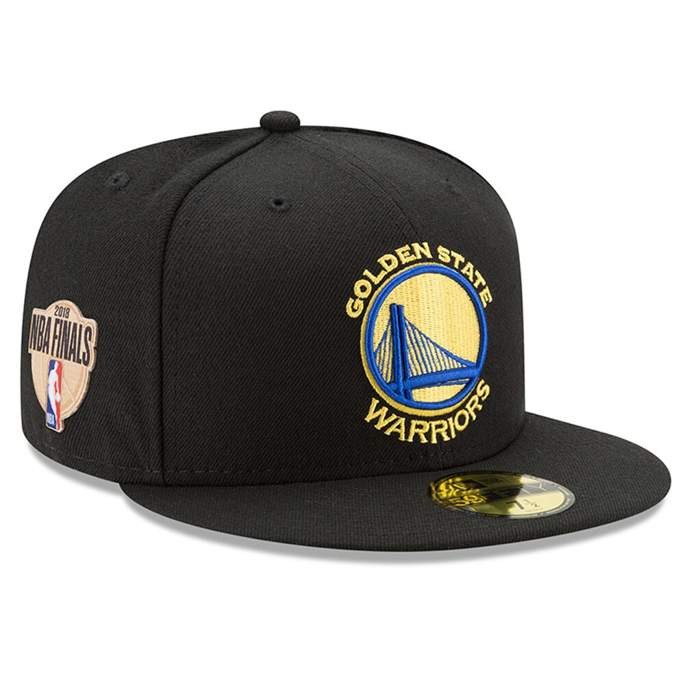 Golden State Warriors New Era 2018 Western Conference Champions Side Patch 59FIFTY Fitted Hat - Black