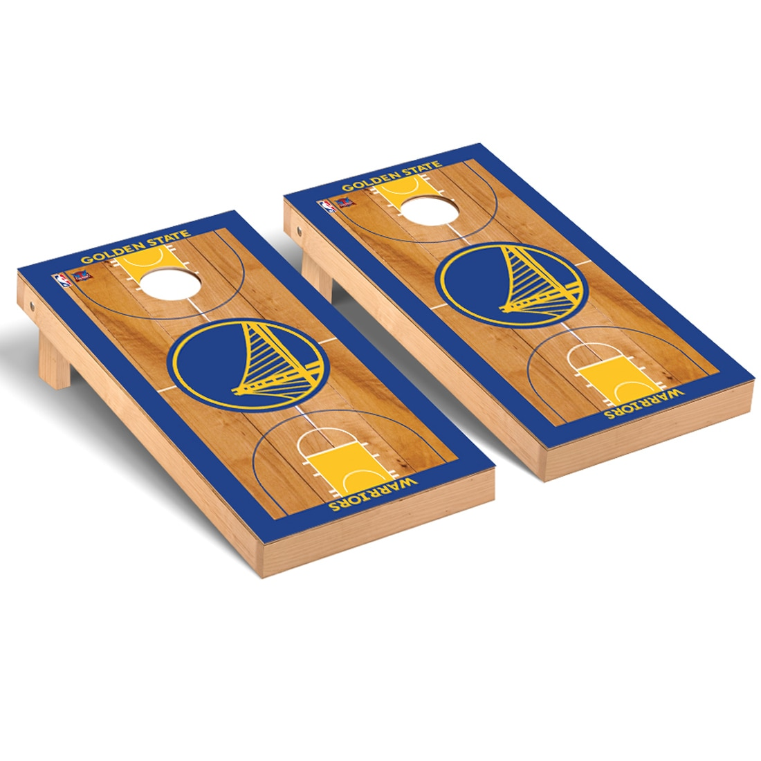 Golden State Warriors 2' x 4' Court Museum Cornhole Board Tailgate Toss Set