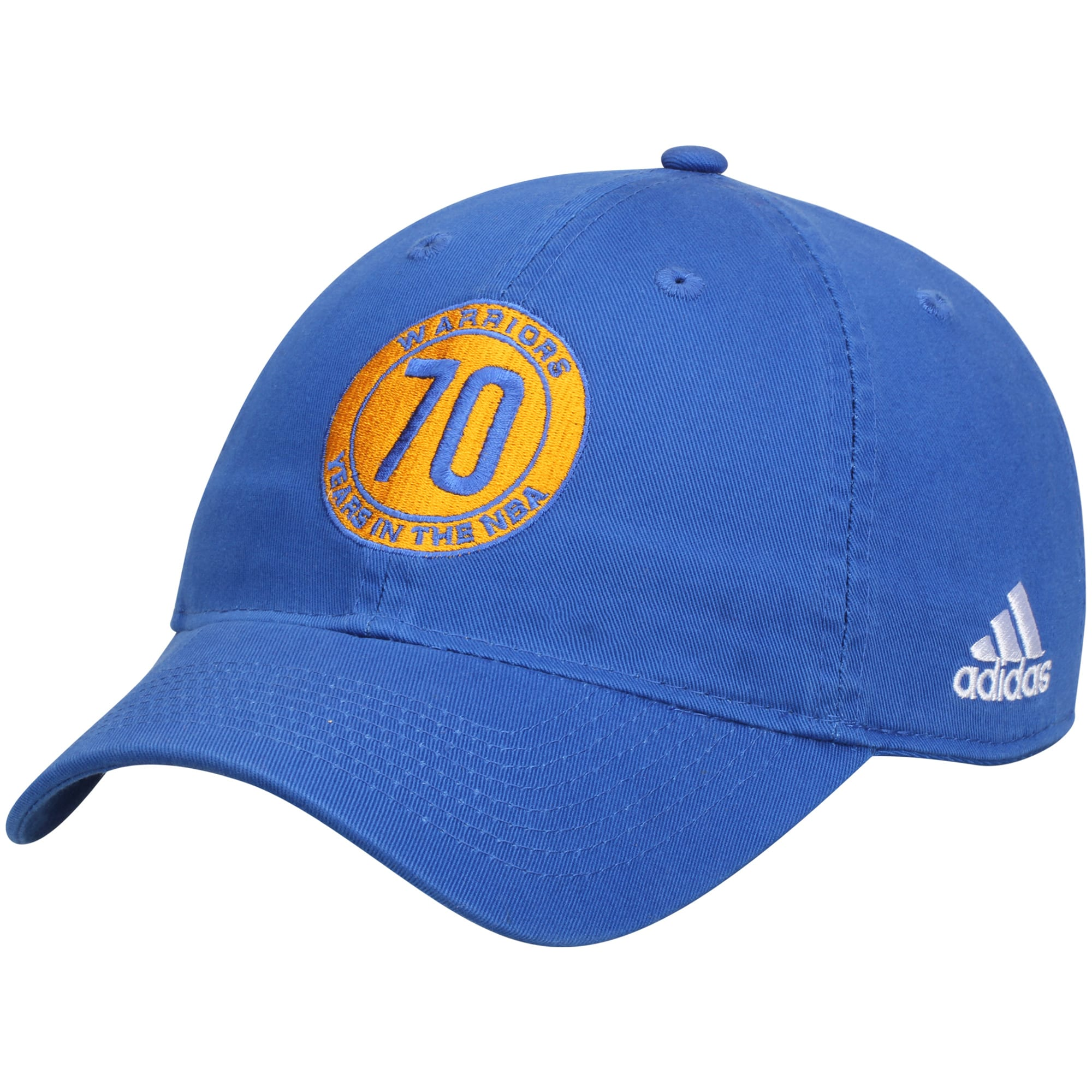 Golden State Warriors adidas Anniversary Adjustable Hat - Royal