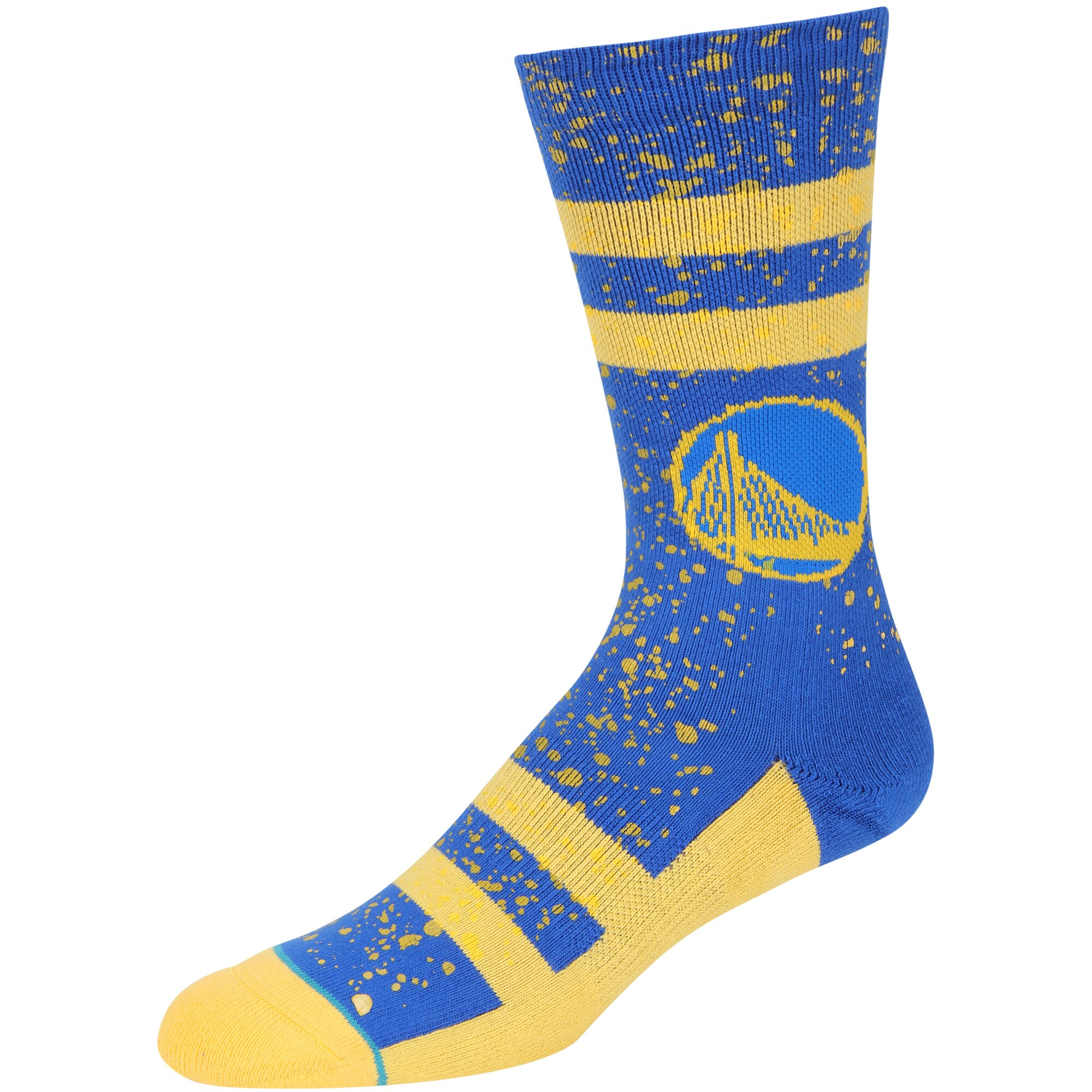 Golden State Warriors Stance Overspray Crew Socks - Royal