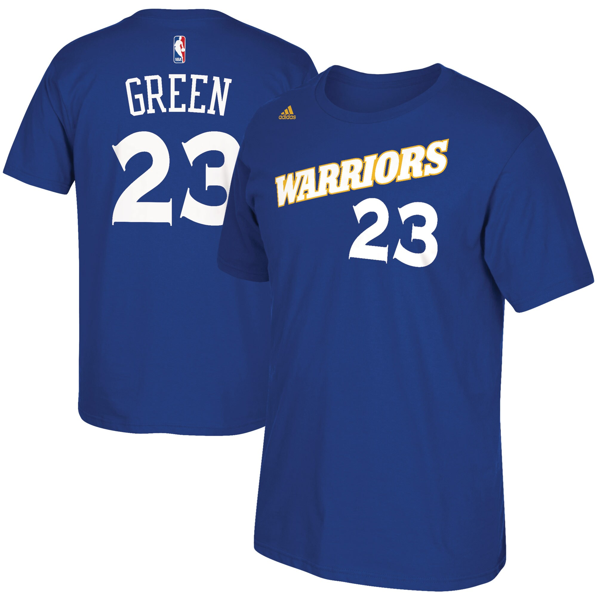 Draymond Green Golden State Warriors adidas Stretch Crossover Name & Number T-Shirt - Royal