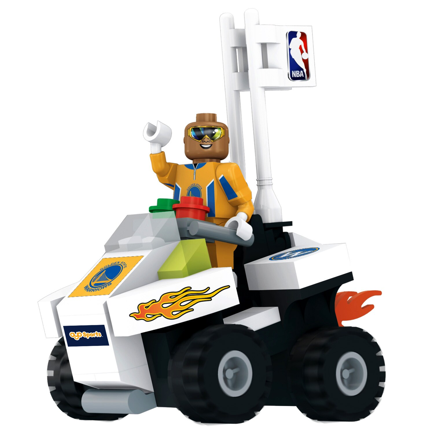Golden State Warriors OYO Sports ATV with Super Fan Minifigure Set